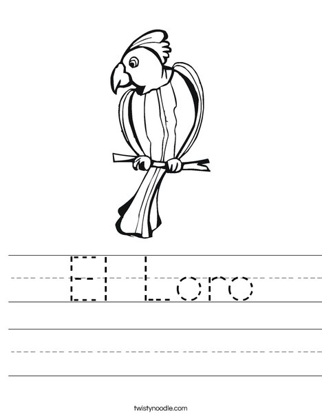 Parrot Worksheet
