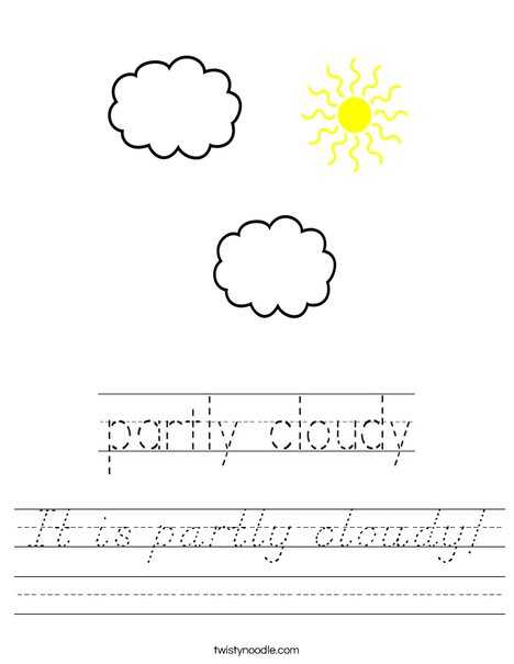 Partly Cloudy Worksheet