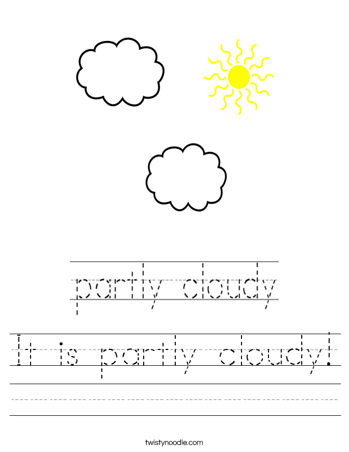 It is partly cloudy! Worksheet