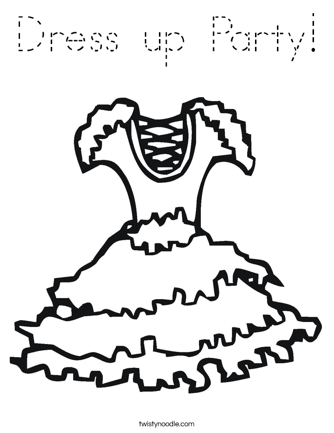 Dress up Party! Coloring Page