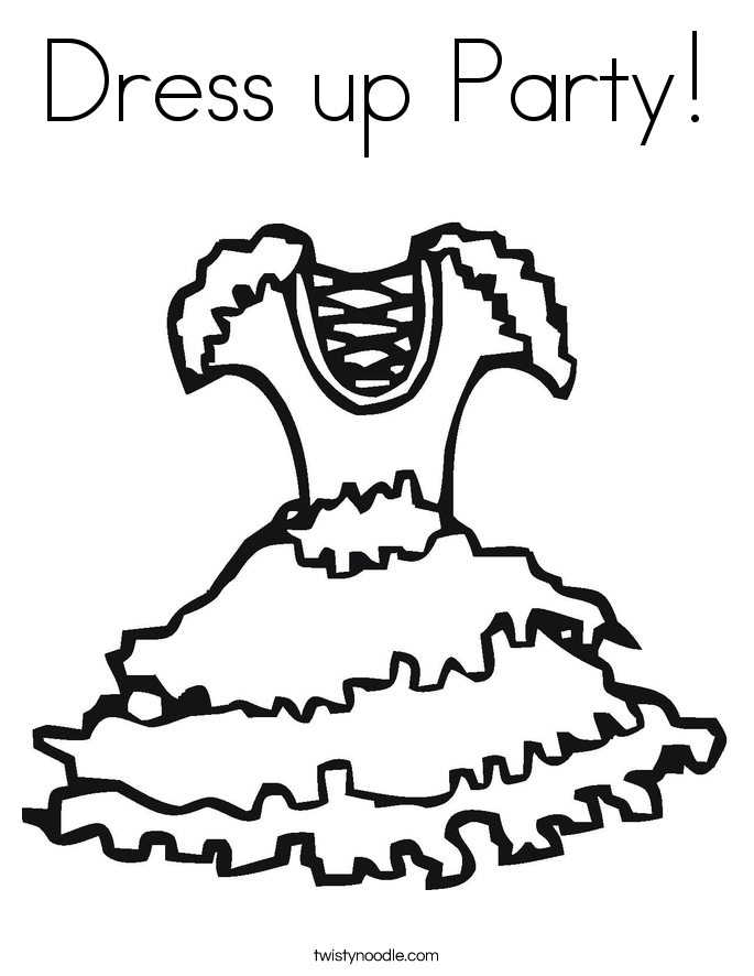 Dress Up Printing PagesUpPrintable Coloring Pages Free Download