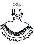 bajuColoring Page