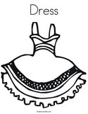 Dress Coloring Page