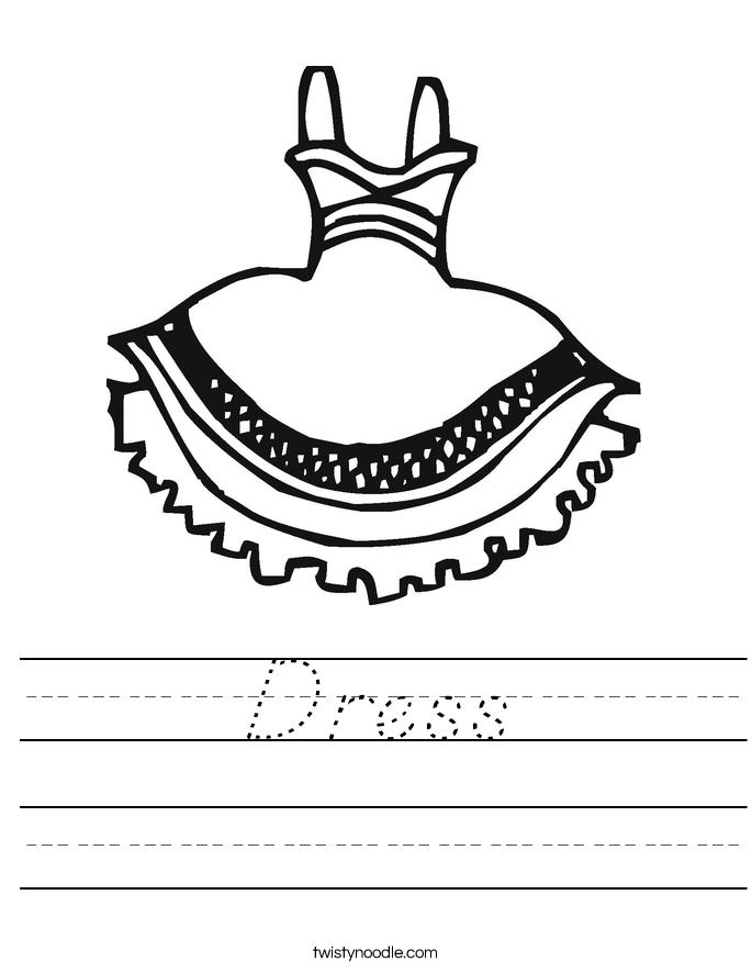 Dress Worksheet