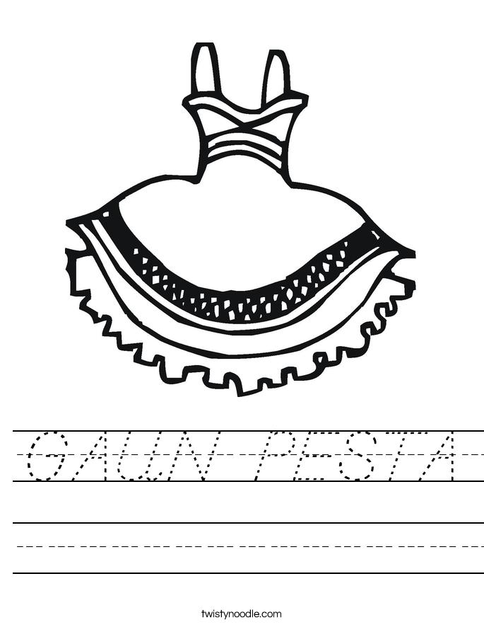 GAUN PESTA Worksheet