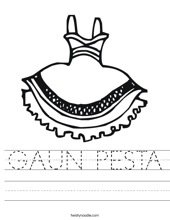 GAUN PESTA Worksheet