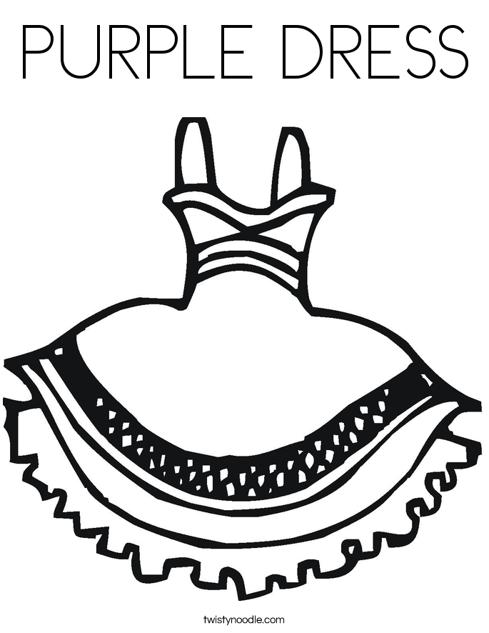 PURPLE DRESS Coloring Page