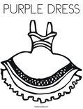PURPLE DRESSColoring Page