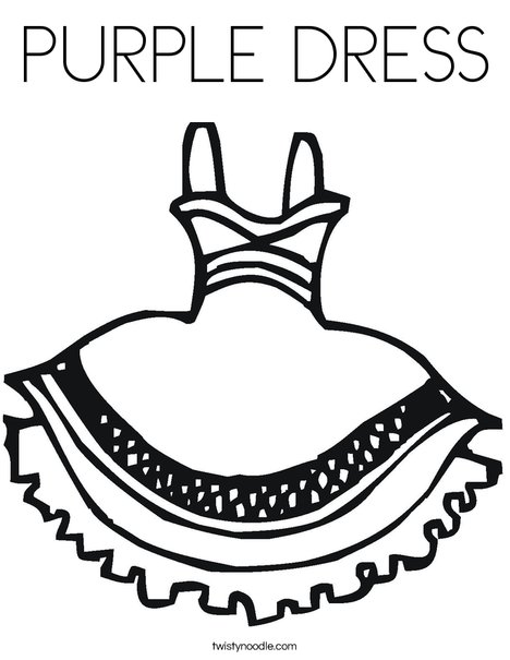 Party Dress Coloring Page