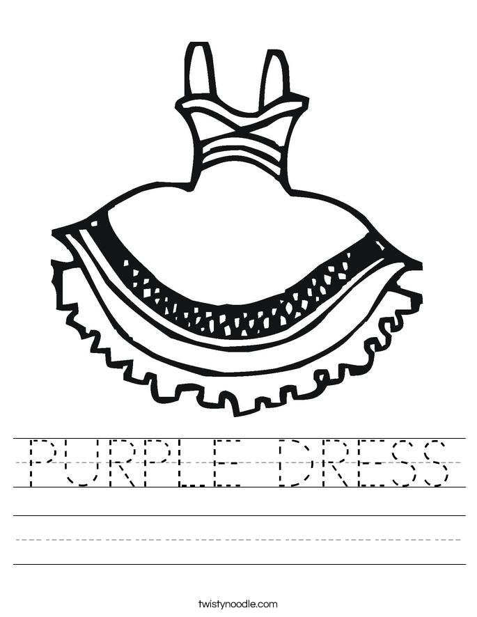 PURPLE DRESS Worksheet