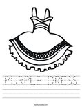 PURPLE DRESS Worksheet