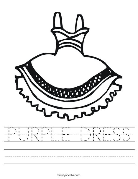 Party Dress Worksheet