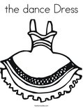 the dance Dress Coloring Page