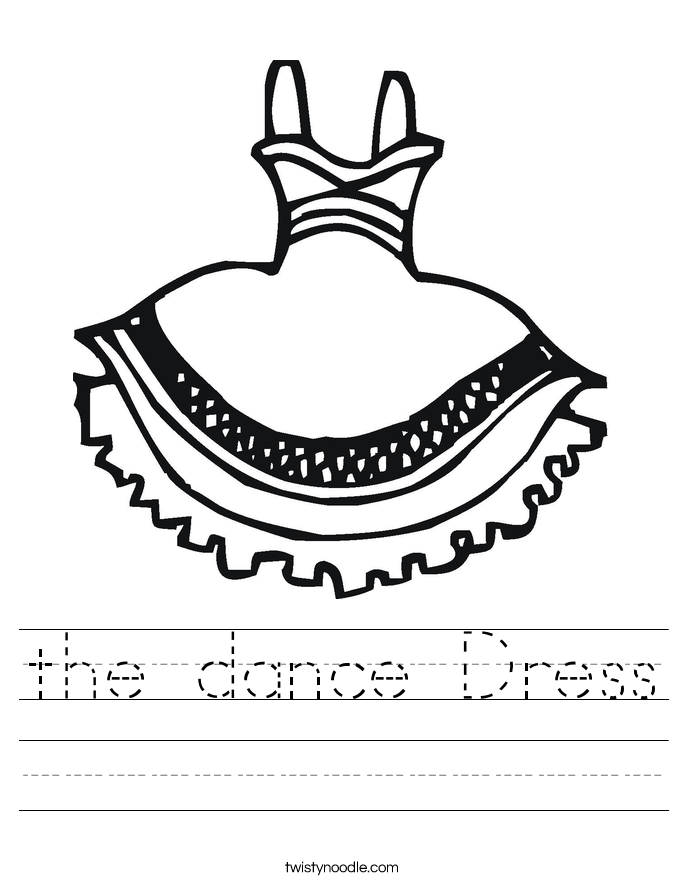 the dance Dress Worksheet