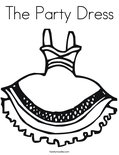 The Party Dress Coloring Page