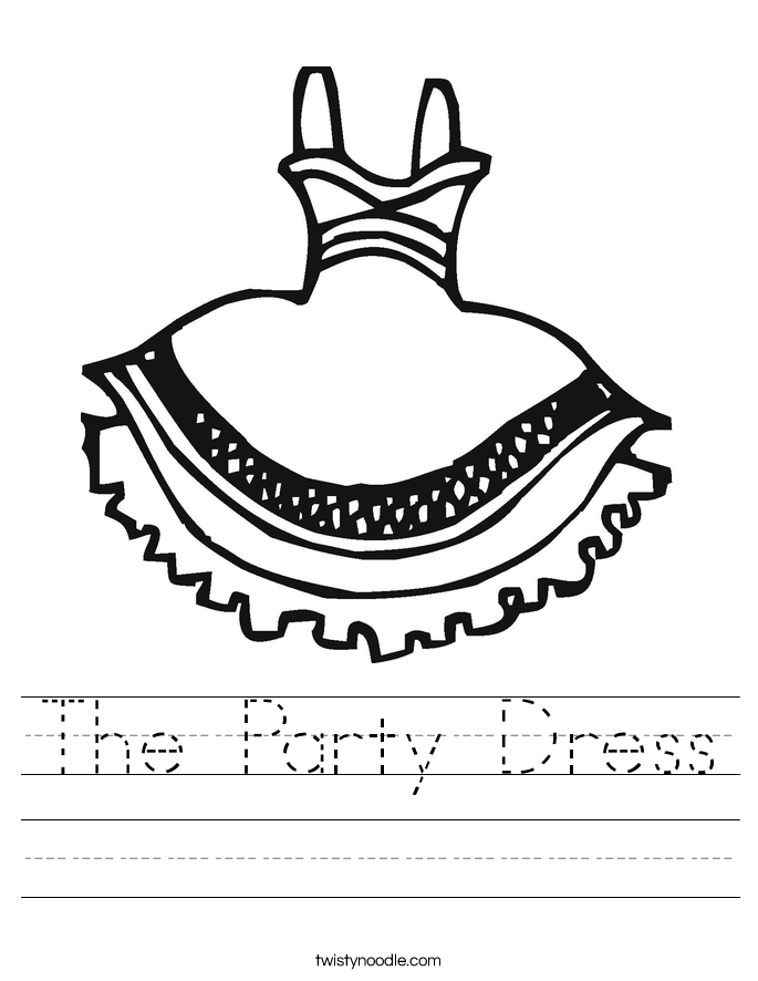 The Party Dress Worksheet