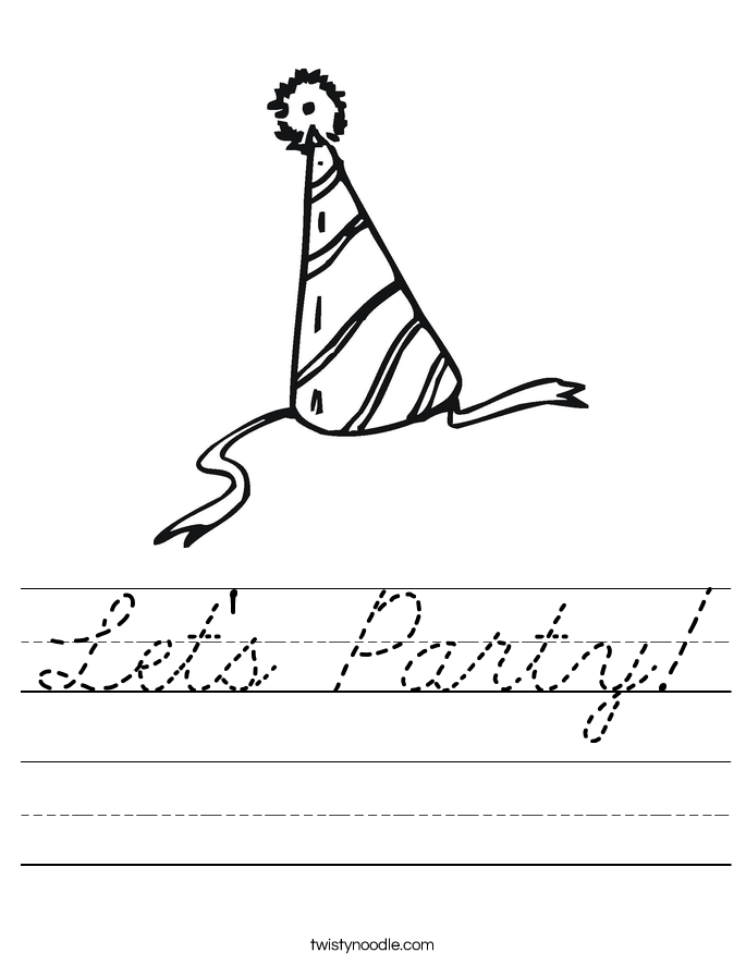 Let's Party! Worksheet