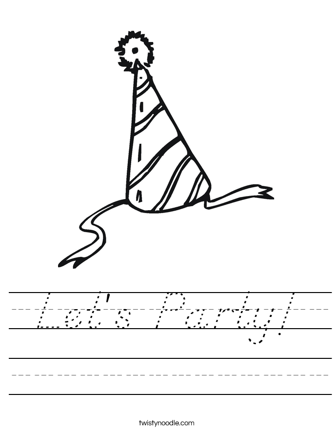 Let's Party! Worksheet