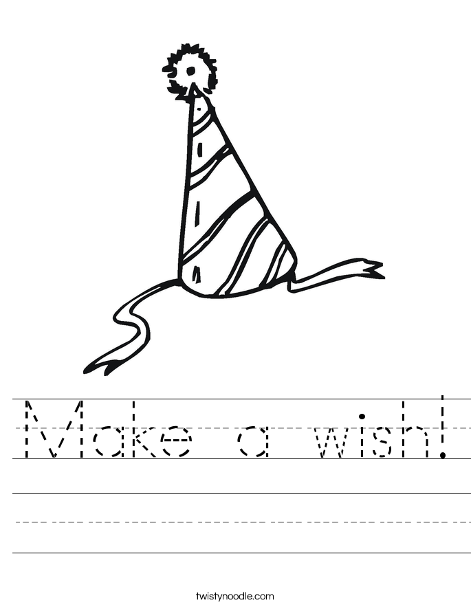 Make a wish! Worksheet