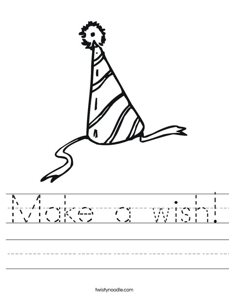 Party Hat Worksheet