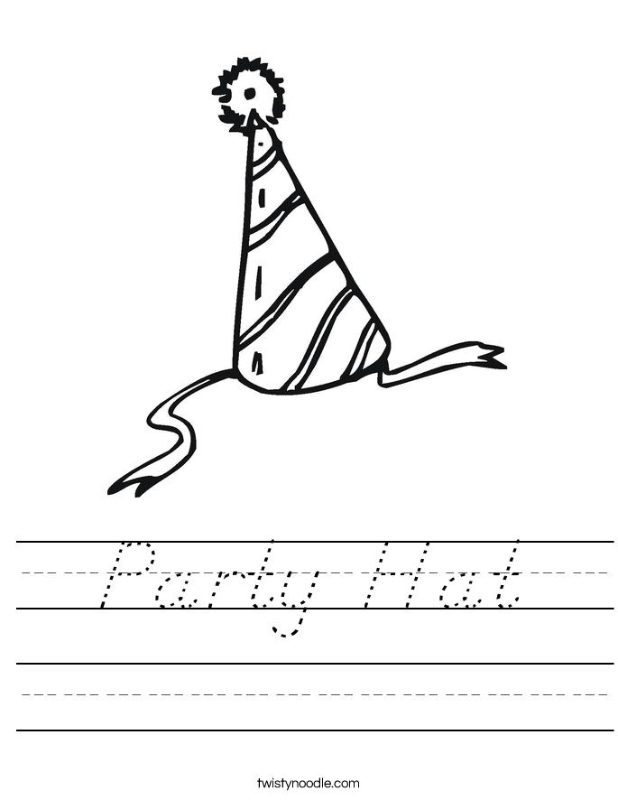 Party Hat Worksheet