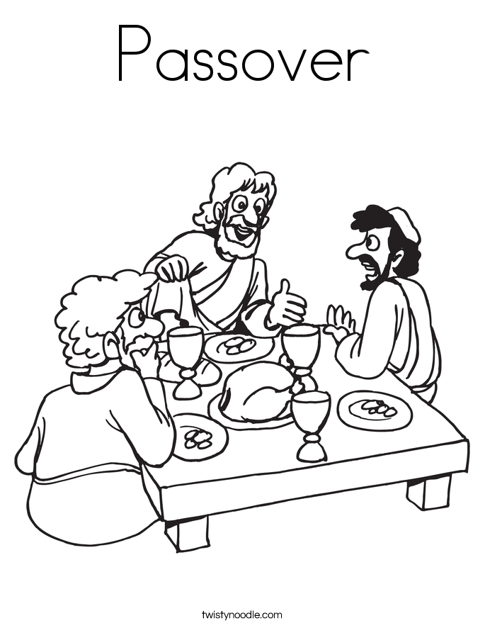 passover meal coloring pages - photo#4