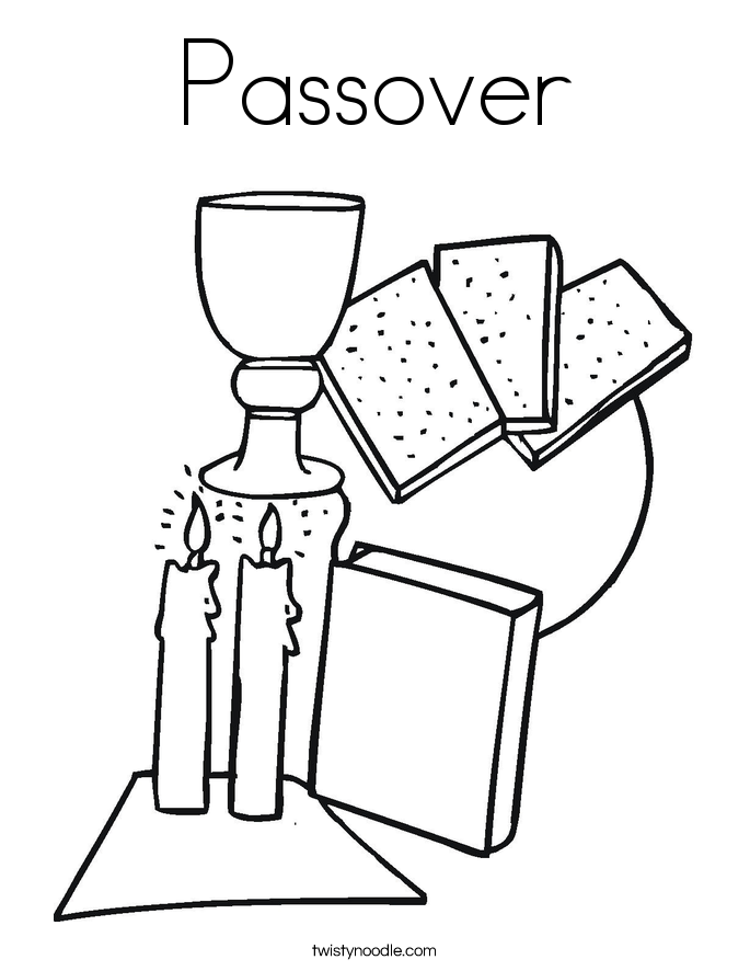 passover coloring page twisty noodle