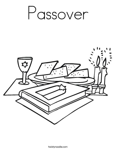 Passover2 Coloring Page