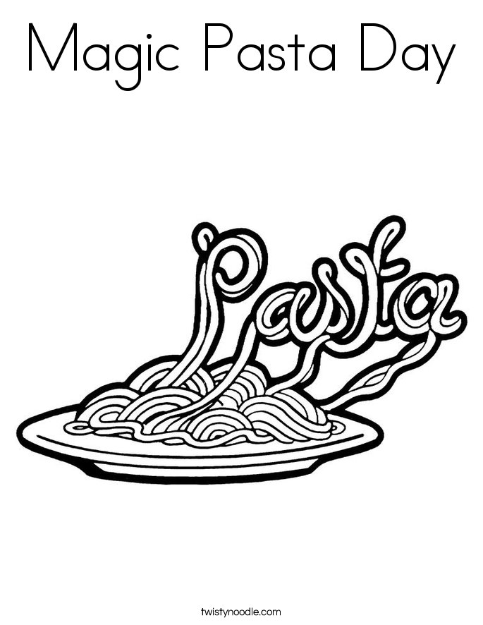 Magic Pasta Day Coloring Page