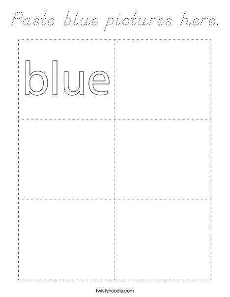 Paste blue pictures here. Coloring Page