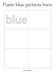 Paste blue pictures here Coloring Page