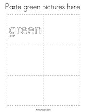 Paste green pictures here Coloring Page