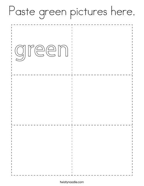 Paste green pictures here. Coloring Page