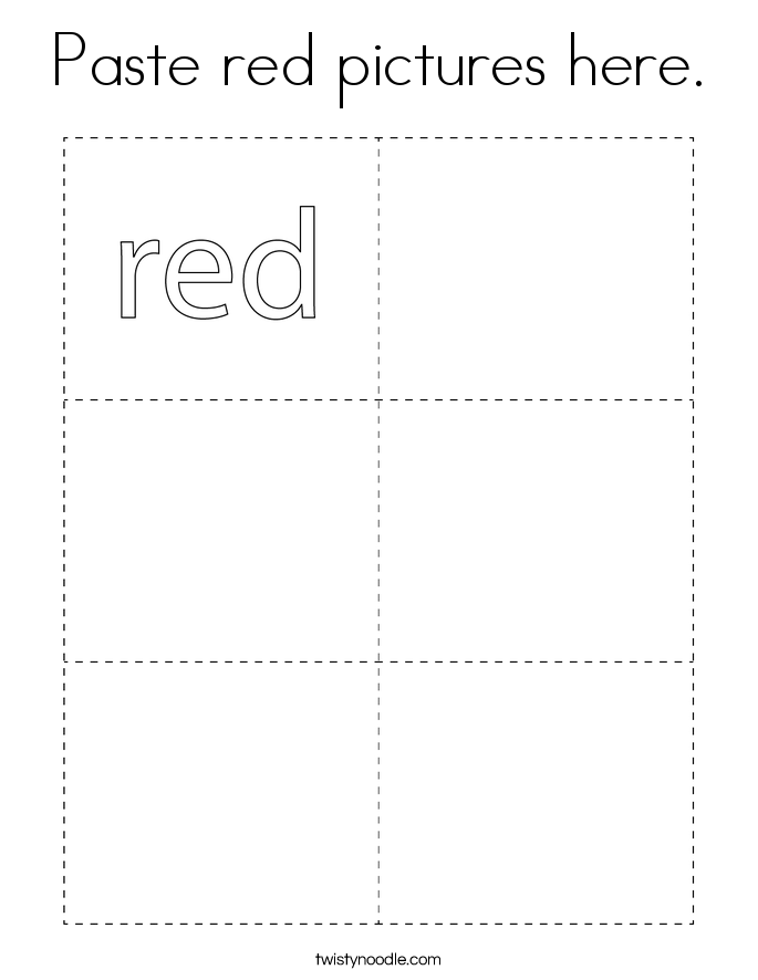Paste red pictures here. Coloring Page