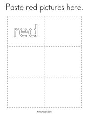 Paste red pictures here Coloring Page