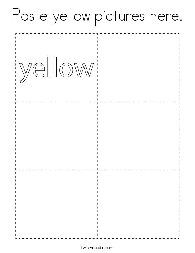 Paste yellow pictures here. Coloring Page