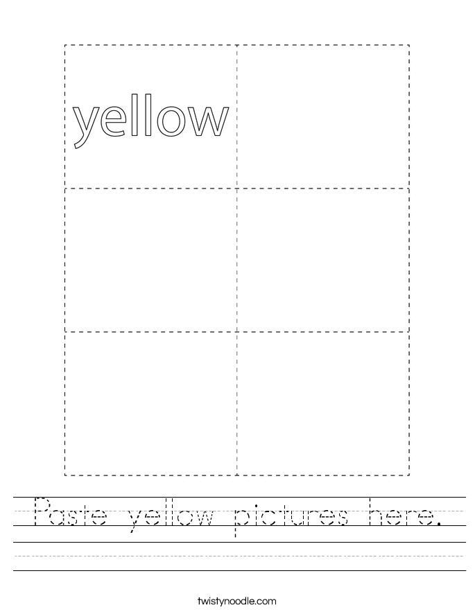 Paste yellow pictures here. Worksheet