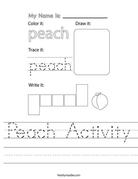 Peach Activity Worksheet