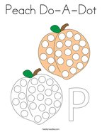 Peach Do-A-Dot Coloring Page