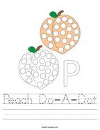 Peach Do-A-Dot Handwriting Sheet