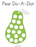 Pear Do-A-Dot Coloring Page
