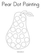 Pear Dot Painting Coloring Page
