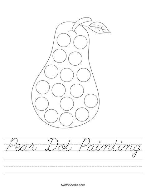 Pear Dot Painting Worksheet