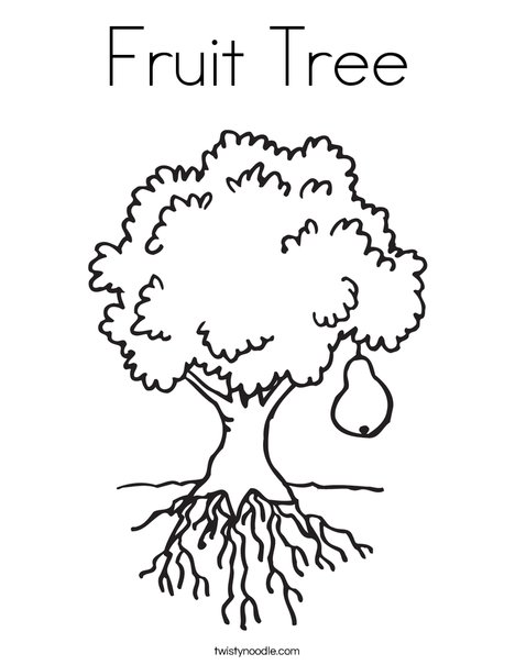 Fruit Tree Coloring Page Twisty Noodle