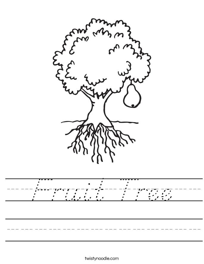 Fruit Tree Worksheet