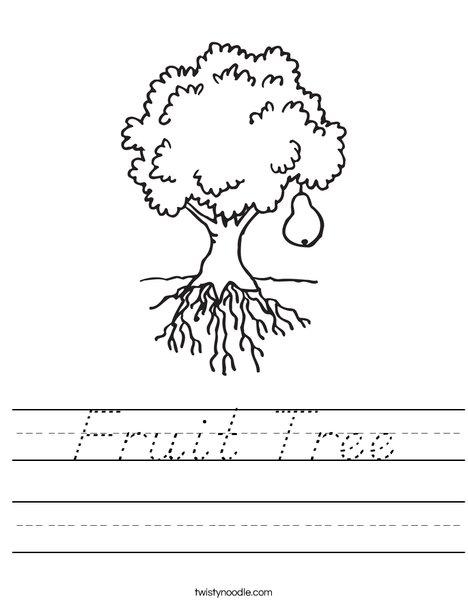 Pear Tree Worksheet