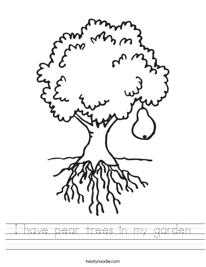 I have pear trees in my garden Worksheet