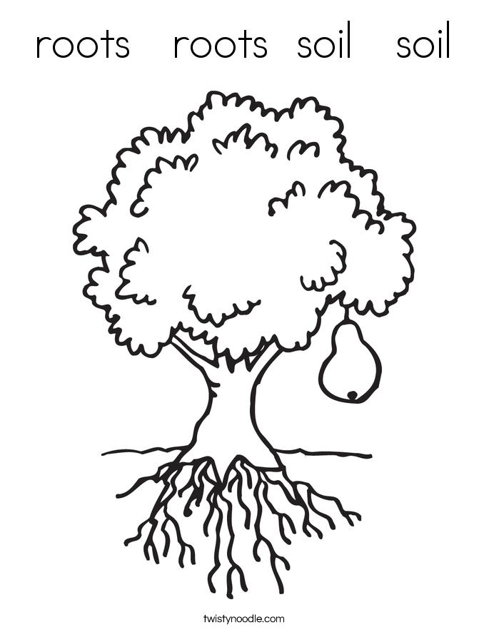 Roots Roots Soil Soil Coloring Page Twisty Noodle