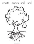 roots   roots  soil   soil Coloring Page