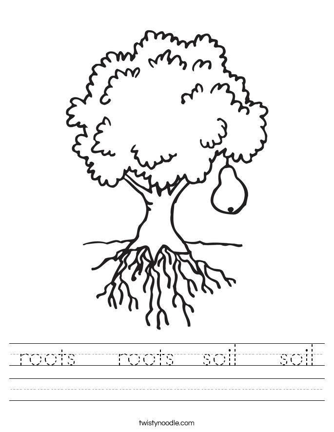 roots roots soil soil worksheet twisty noodle. Black Bedroom Furniture Sets. Home Design Ideas